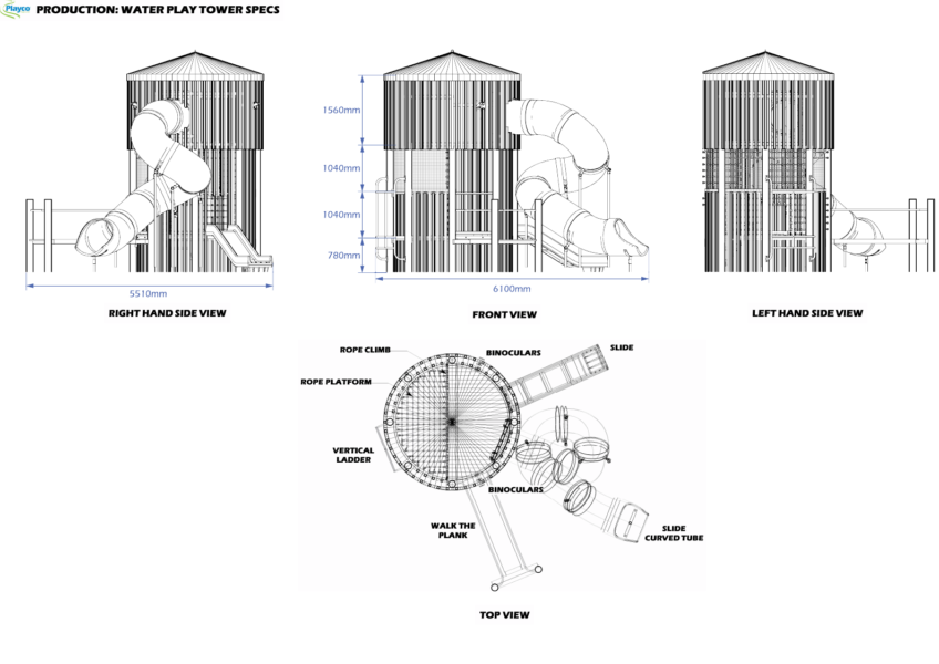 Water Play Tower plan