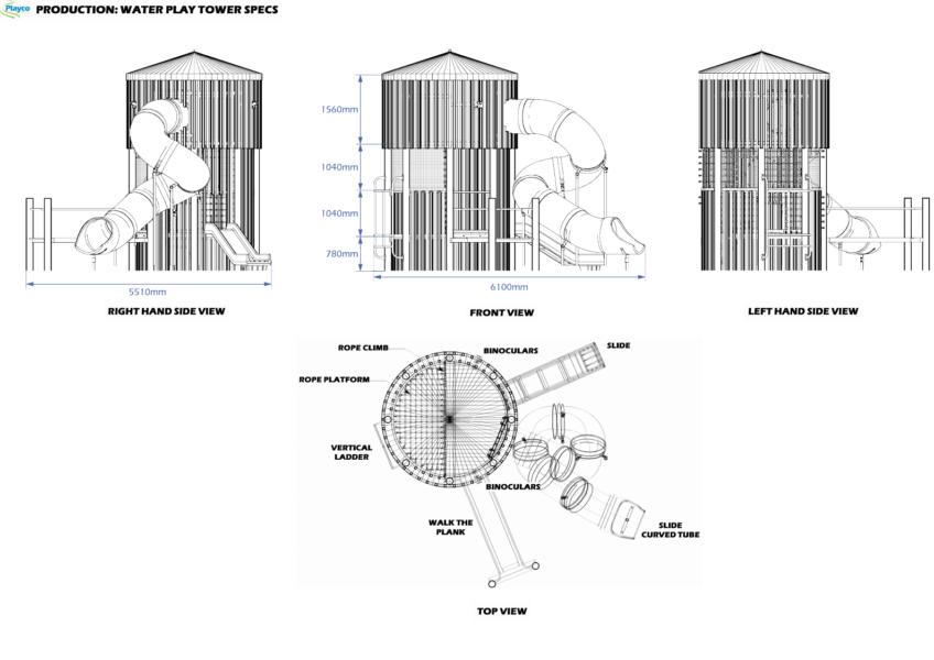 Water Play Tower plan
